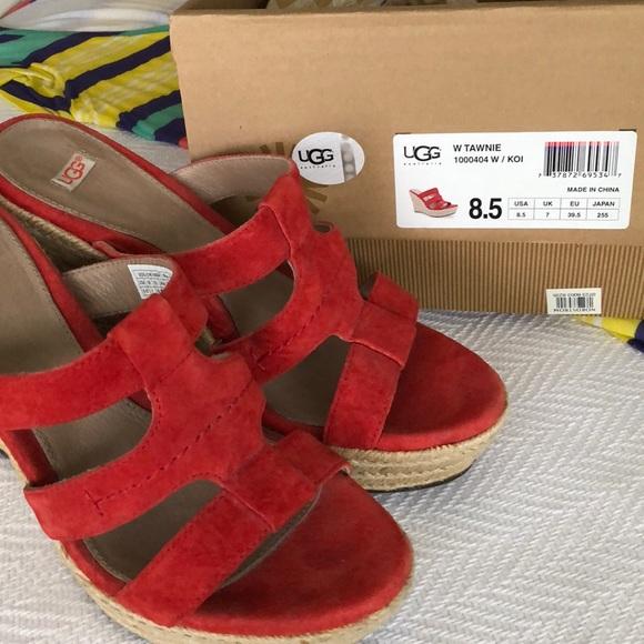 75d2ad948f9 UGG Tawnie Espadrille Sandals, Koi Red, EUC